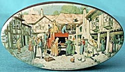 Vintage Oval Thornes Toffee Tin Mr Pickwick's Arrival