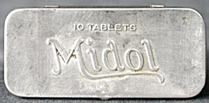 Vintage Midol Tins Set Of 3