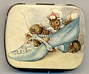 Vintage Hunkydory Mice In A Shoe Tin