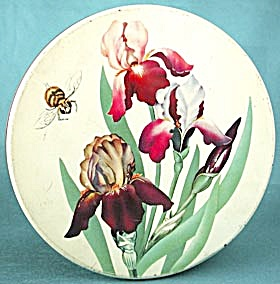 Vintage Iris & Bumble Bee Large Tin
