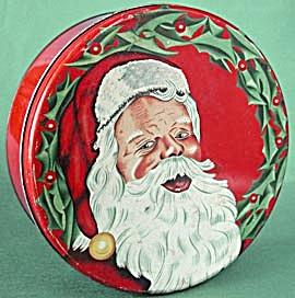 Vintage Large Santa Clause Tin (Image1)