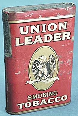 Vintage Union Leader Smoking Tobacco Tin