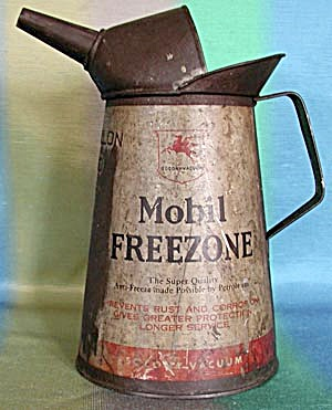 Vintage Mobil Freezone Spouted Oil Can (Image1)