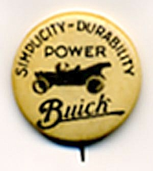 Antique Buick Pin Back Button (Image1)