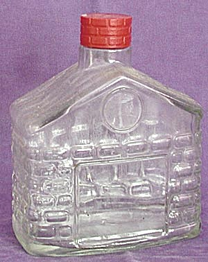 Glass Log Cabin Bottle (Image1)