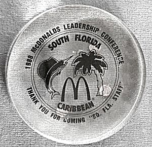 1988 Mcdonald's Acrylic Paperweight