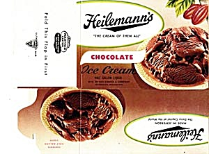 Vintage Heilemann's Chocolate Ice Cream 1995