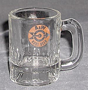 Vintage Glass A & W Root Beer Mini Mug