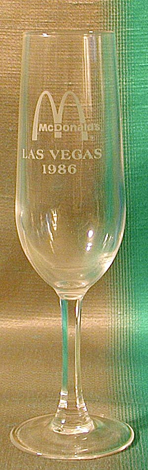 Mcdonald's Champagne Flutes From Conventions Set Of 2