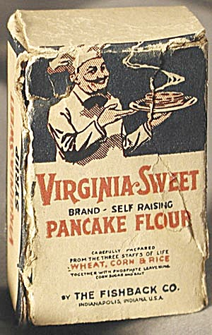Vintage Mini Virginia-sweet Pancake Flour Box Sample