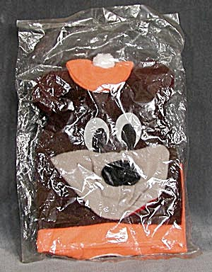 Vintage Flat A & W Root Beer Bear Hand Puppet