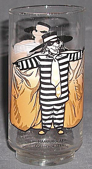 Vintage McDonalds Hamburglar Character Glass (Image1)