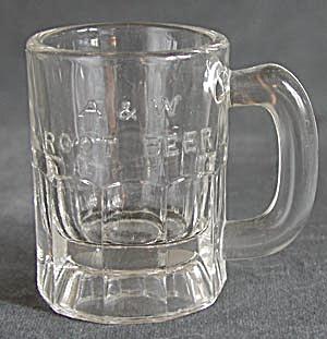 Vintage Glass A & W Root Beer Child's Mug (Image1)