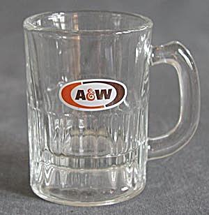 Vintage Orange & Brown A & W Root Beer Child's Mug (Image1)