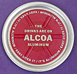 Vintage Alcoa Aluminum Advertising Coaster