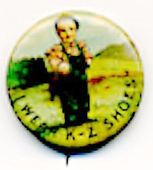 Antique K-Z Shoes Pin Back Button (Image1)