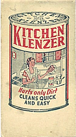 Vintage Advertising For Kitchen Klenzer