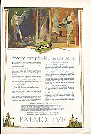 Vintage 1920 Palmolive Egyptian Ad (Image1)