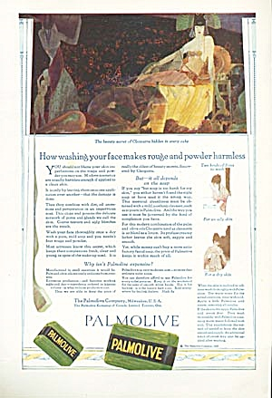 Vintage Palmolive Egyptian Ad Image of Cleopatra (Image1)