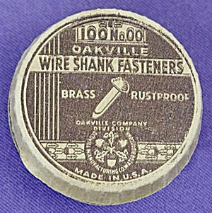 Vintage Oakville Wire Shank Fasteners Box (Image1)