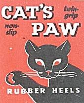 Vintage Cat's Paw Pre 1950s Rubber Heels  (Image1)