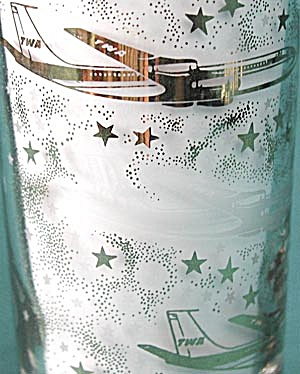 Vintage 1960s TWA Airline Drinking Glasses (Image1)