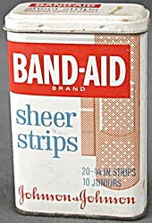 Vintage Band-Aid Sheer Strips Tin (Image1)