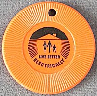Vintage Live Better Electrically Token (Image1)