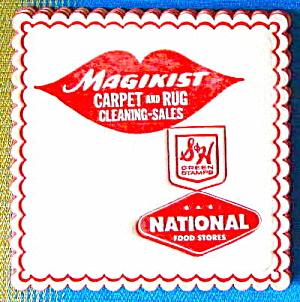 Vintage Magikist Carpet & Rug Advertising Paper Coaster (Image1)