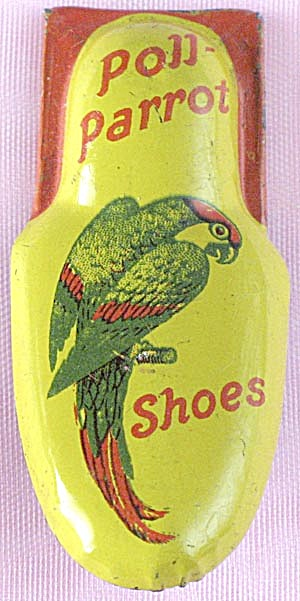 Vintage Metal Poll Parrot Shoes Clicker