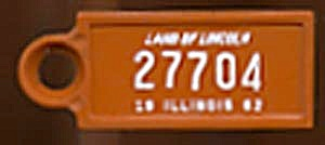 Key Chain: Vintage Miniature License Plate 1962 (Image1)