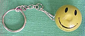 Vintage Floating Smiley Face Key Chain