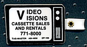 Key Chain: Video Visions Cassette Sales & Rentals