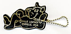 Key Chain: Dog Orrville Leather
