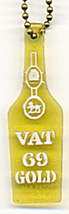 Vintage Advertising Vat G9 Gold Key Chain