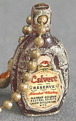 Vintage Calvert Bottle Key Chain