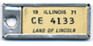 Vintage Miniature License Plate 1971 (Image1)
