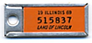 Key Chain: Vintage Miniature License Plate 1969 (Image1)
