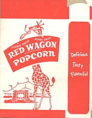 Red Wagon Popcorn Box