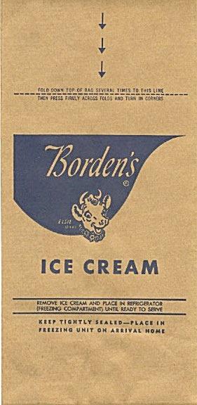 Borden's Dairy Ice Cream Bag  (Image1)