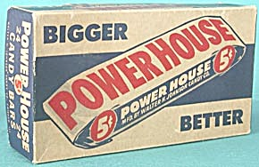 Vintage Power House Candy Bar Box