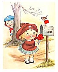 Vintage Campbell Kids Valentine Print (Image1)
