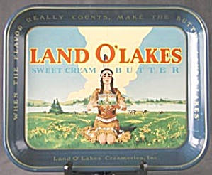 Vintage Land O'Lakes Butter  Metal Tray (Image1)