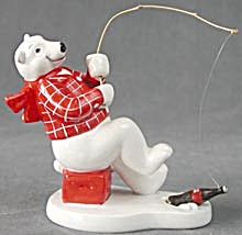 Coca-cola Polar Bear Fishing Figurine