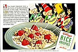 Vintage Rice Krispies Advertising Ink Blotter (Image1)