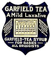 Vintage Garfield Tea Syrup 1931 Calendar (Image1)
