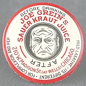 Vintage Joe Grein's Sauerkraut Juice Pocket Mirror (Image1)