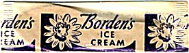 Vintage Bordens Wooden Ice Cream Stick In Wrapper