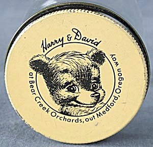 Vintage Harry and David Bear Creek Orchards Jar & Lid (Image1)