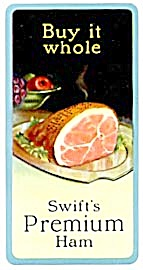 Vintage Swift's Premium Ham Celluloid Calendar